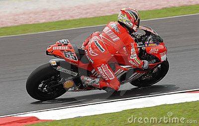 Italian Loris Capirossi Ducati Marlboro 2007 Polin Editorial Photography