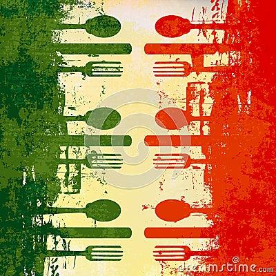 Free Italian Menu Template Stock Photography - 19386912