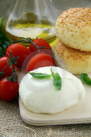 Italian  mozzarella cheese tomatoes olive oil