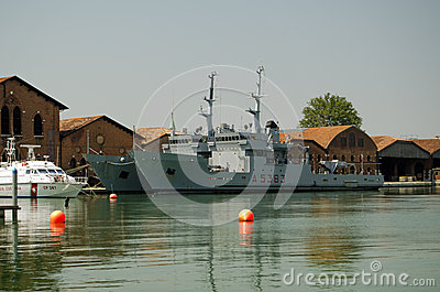 Italian Navy ships, Venice Editorial Photo
