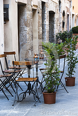 Italian outdoor cafe