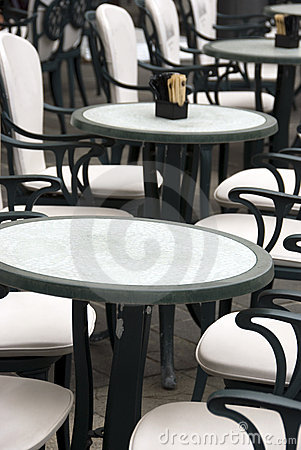 Italian outdoor cafe - the tables