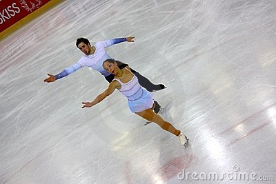 Italian overall 2009 Figure Skating Championships Editorial Stock Photo