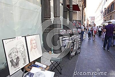 Italian Painters Editorial Photography