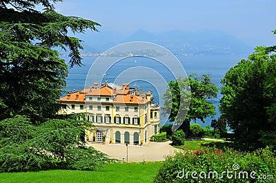 Italian Palazzo with view over  Lake Maggiore