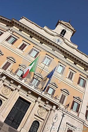 Italian Parliament in Rome, Italy