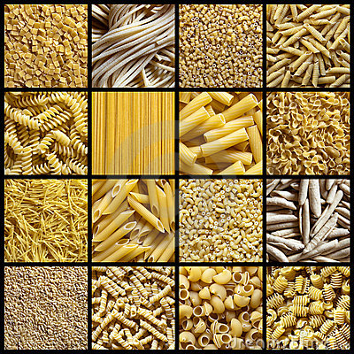 Free Italian Pasta Collage Stock Images - 13830074