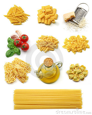 Free Italian Pasta Collection Royalty Free Stock Photos - 5021038
