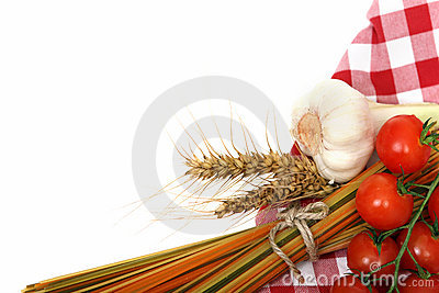 Italian Pasta with cooking ingredients