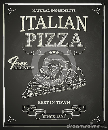 Free Italian Pizza Poster Royalty Free Stock Images - 34033709