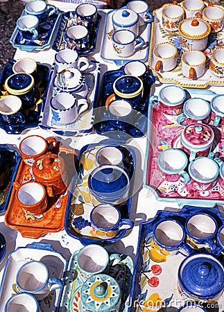 Free Italian Pottery, Ravello, Italy. Stock Photo - 32945310
