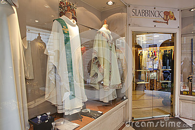 Italian religious clothing store Editorial Photography