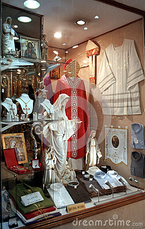 Religious clothing store. Clothes stores