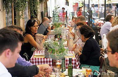 Italian restaurant Editorial Stock Photo