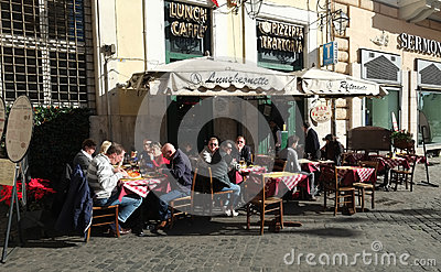 Italian restaurant Editorial Photo