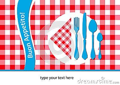 Italian restaurant placemat