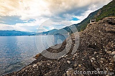 Italian Riviera coastal view