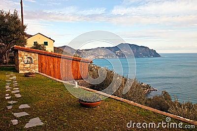 Italian Riviera landscape