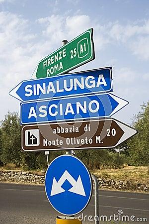 Italian road signs.