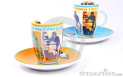 Italian Roma 1977 espresso cups