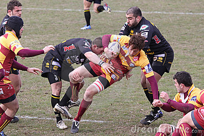 Italian Rugby Federation Cup Match Editorial Stock Photo