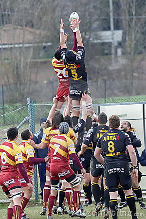 Italian Rugby Federation Cup Match Editorial Image