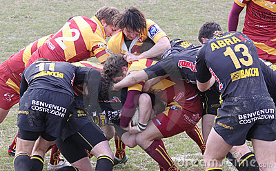 Italian Rugby Federation Cup Match Editorial Stock Image