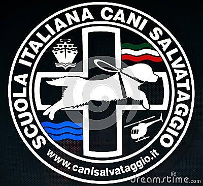 The Italian School of Rescue Dogs - logo Editorial Image