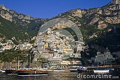 Italian sea coast, positano, naples