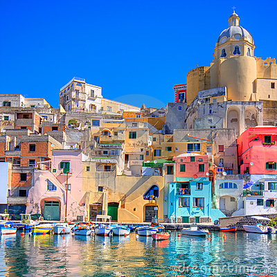 Free Italian Sea Coast, Procida, Naples Royalty Free Stock Image - 20430706