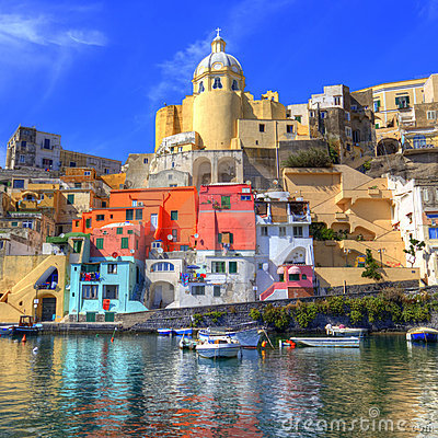Free Italian Sea Coast, Procida, Naples Stock Photography - 21704972