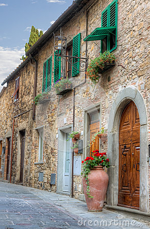 Italian small town view