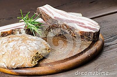 Italian smoked bacon