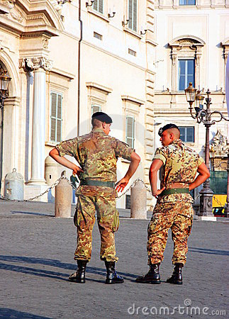 Italian Soldiers Editorial Stock Photo