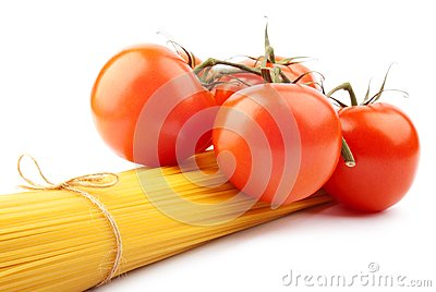 Italian spaghetti with tomatoes