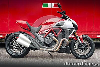 Italian sport motorcycle