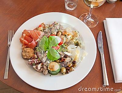 Italian start plate