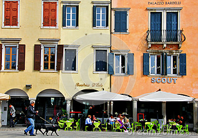 Italian Street, Udine cityscape Editorial Image