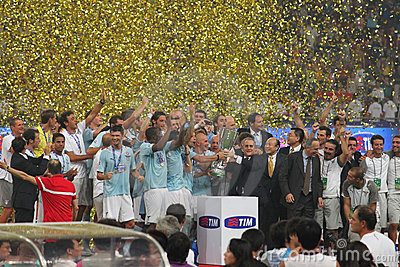 Italian Super Coppa TIM 2009. Inter Milan vs Lazio Editorial Stock Image