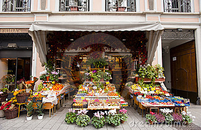 Italian traditional green grocer Editorial Photo