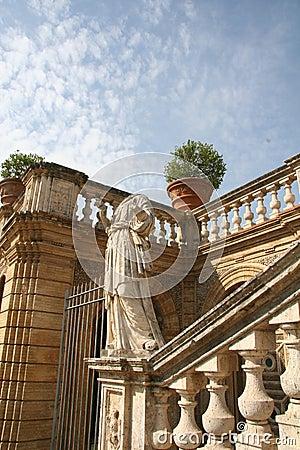 Italian Villa Garden in Rome