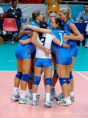 Italian volleyball team Editorial Stock Image