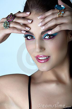 Free Italian Woman With Fashion Make-up. Stock Photos - 10502943