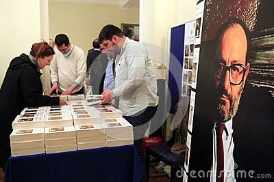 Italian writer Umberto Eco in Istanbul,Turkey Editorial Photography