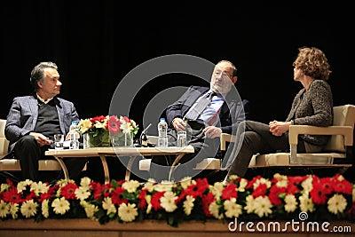 Italian writer Umberto Eco in Istanbul,Turkey Editorial Stock Image