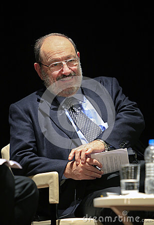 Italian writer Umberto Eco in Istanbul,Turkey Editorial Stock Photo