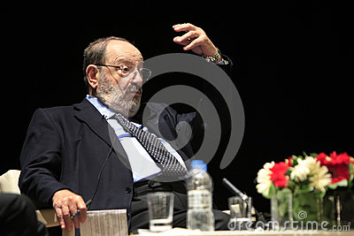 Italian writer Umberto Eco in Istanbul,Turkey Editorial Photo