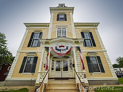 Italianate building in New England Editorial Image