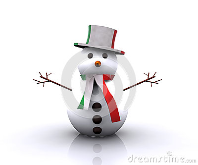 Italiano piacevole del pupazzo di neve - 3D
