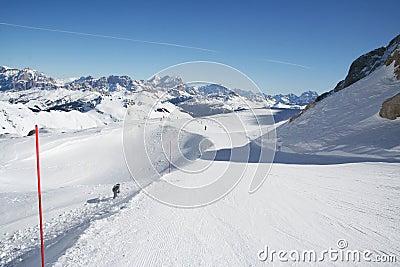 Italien Dolomite - ski slope